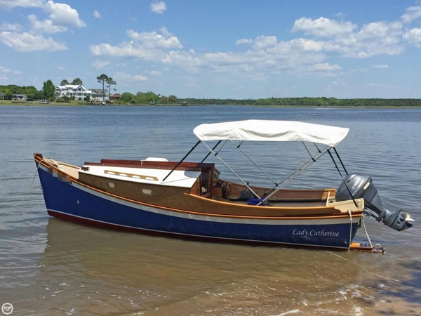 Used Custom Built Skiff America 20 Skiff Fishing Boat For Sale