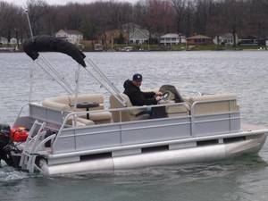New Misty Harbor Boats Explorer 1680 RE Pontoon Boat For Sale