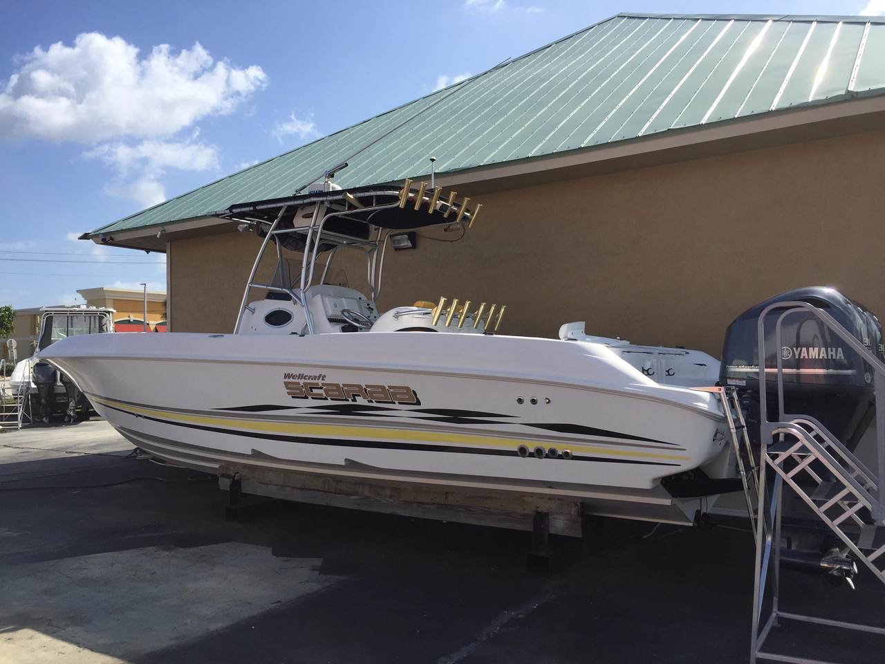 2001 used wellcraft scarab center console fishing boat for for Center console fishing boats for sale
