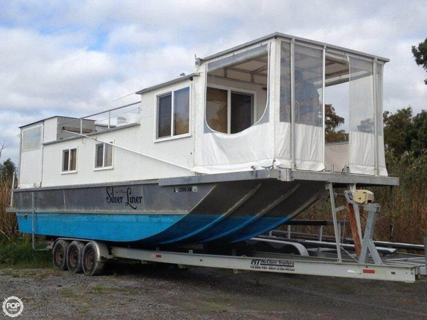 Used Custom 35 Diesel Houseboat House Boat For Sale