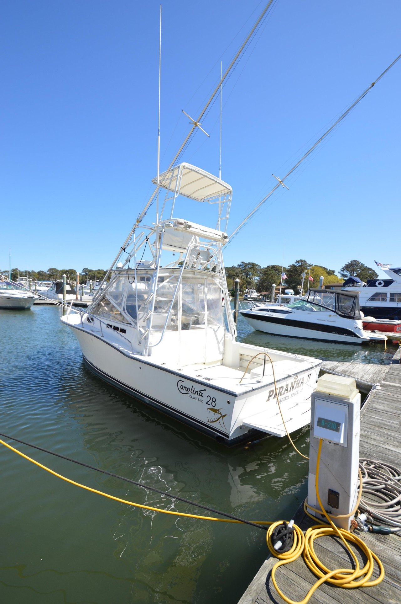 2003 used carolina classic 28 saltwater fishing boat for for Salt water fishing boats