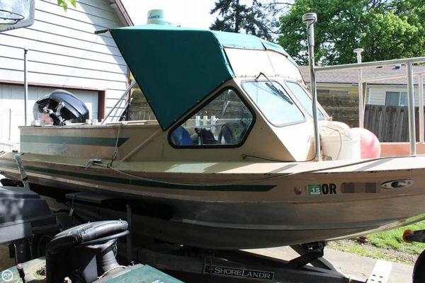 Used White Water 18 Aluminum Fishing Boat For Sale