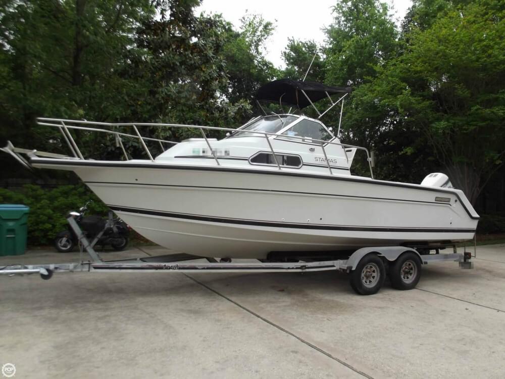 1994 used stamas 240 family fish walkaround fishing boat for Family fishing boats