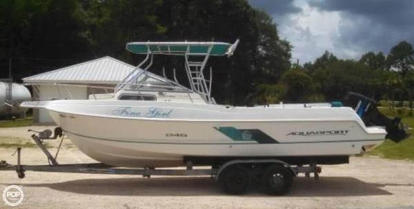 Used Aquasport 245 Walk Around Walkaround Fishing Boat For Sale