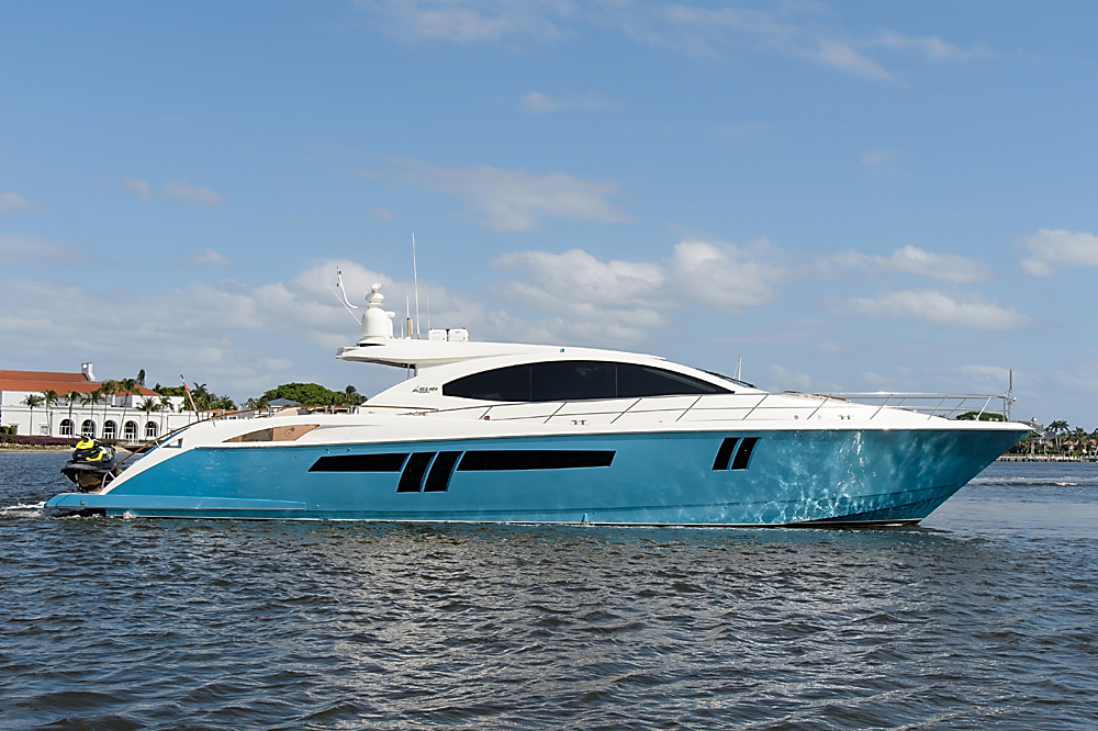 2009 used lazzara lsx 75 motor yacht for sale 1 750 000 for Palm beach motor yachts for sale
