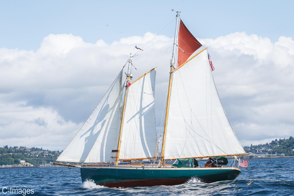 Used Hodgdon Bros. Stadel Gaff Topsail Schooner Antique and Classic Sailboat For Sale