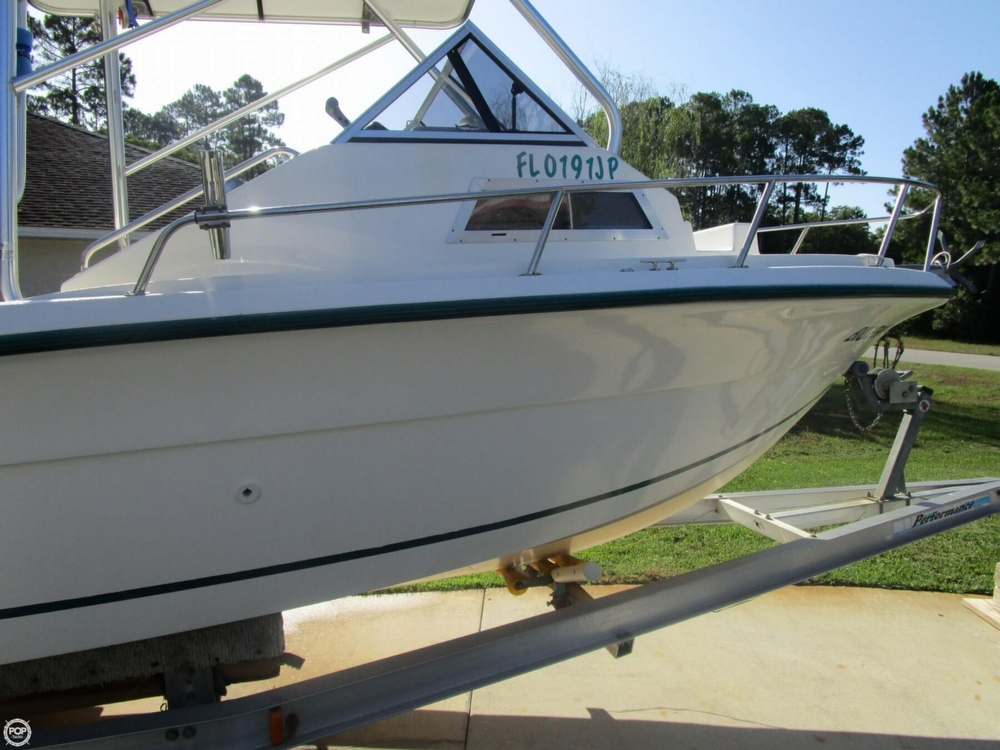 1998 used angler 204 walkaround fishing boat for sale for Angler fishing boat
