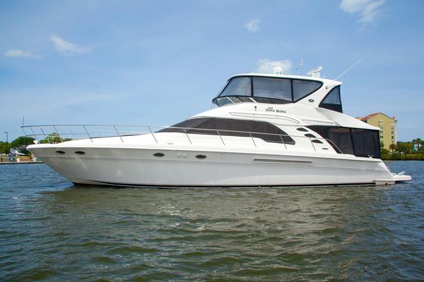Used Sea Ray 560 Sedan Bridge Convertible Fishing Boat For Sale