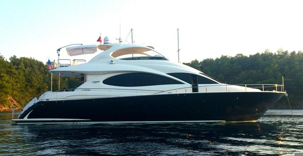 Used Lazzara Motoryacht - Unique Blue Hull Flybridge Boat For Sale