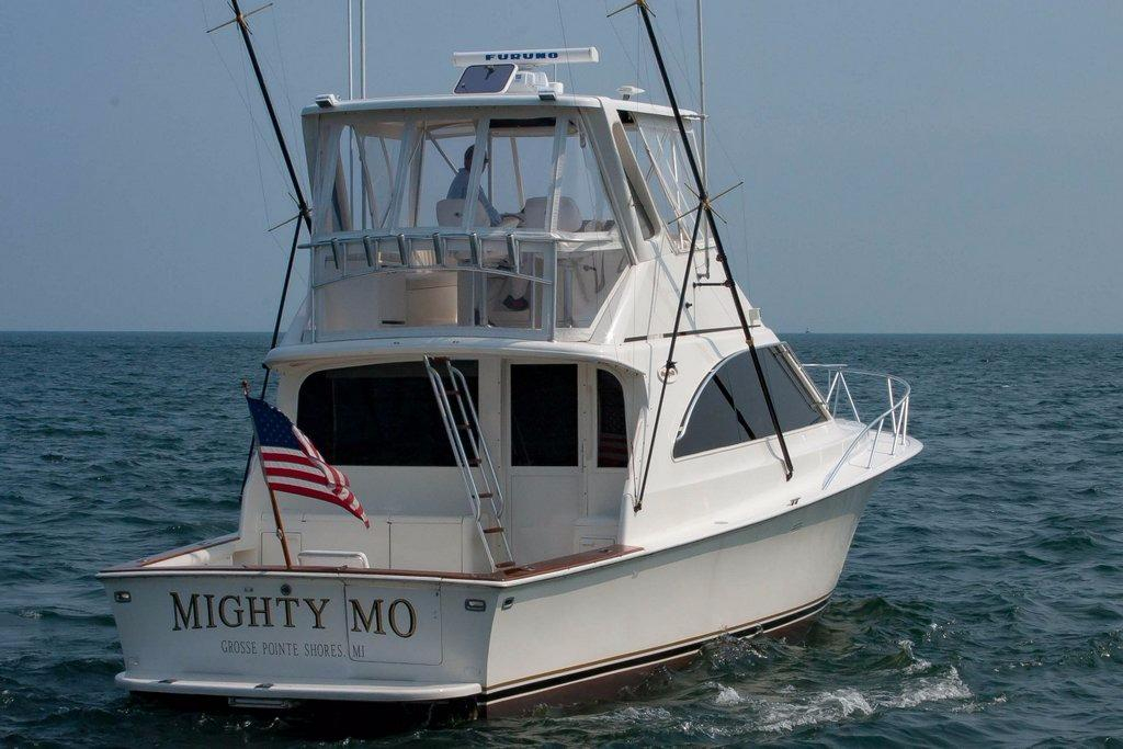 1998 used ocean yachts 45 super sport convertible fishing for Used fishing boats for sale in michigan