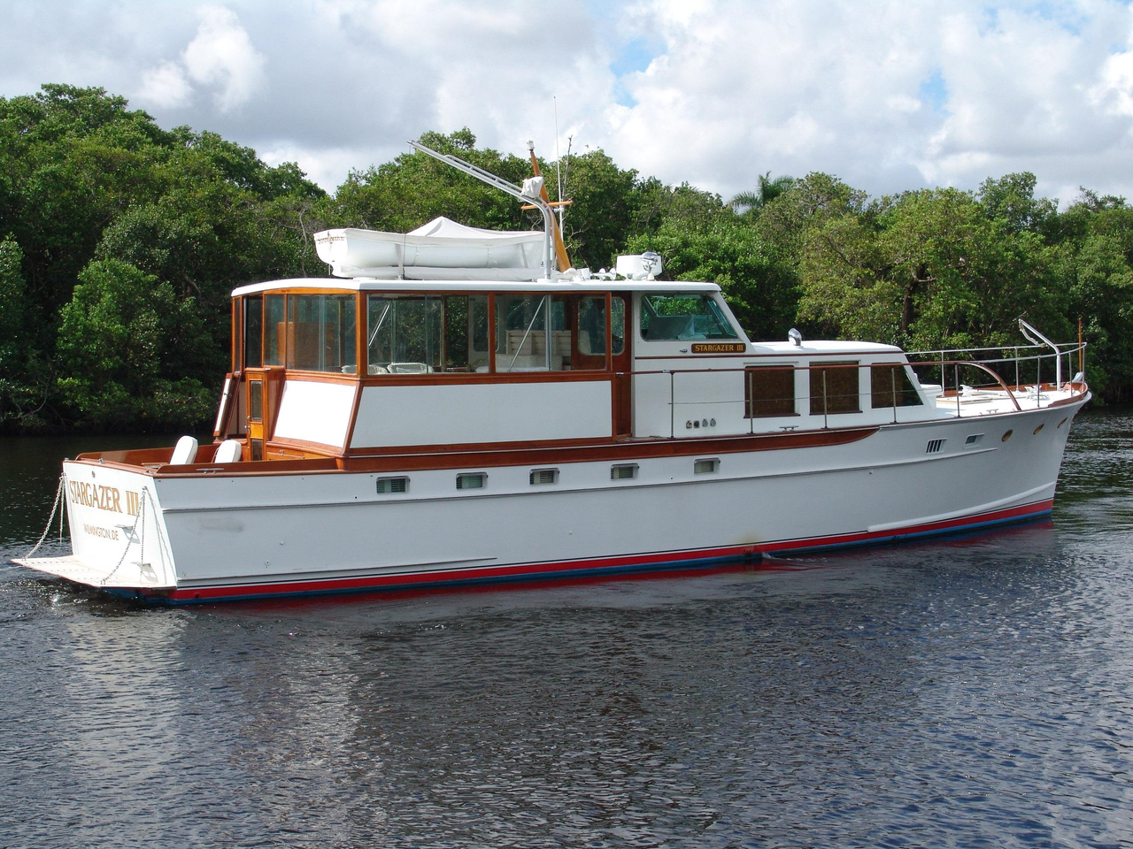 1956 used trumpy motor yacht for sale 119 500 palm for Used motor yachts for sale in florida