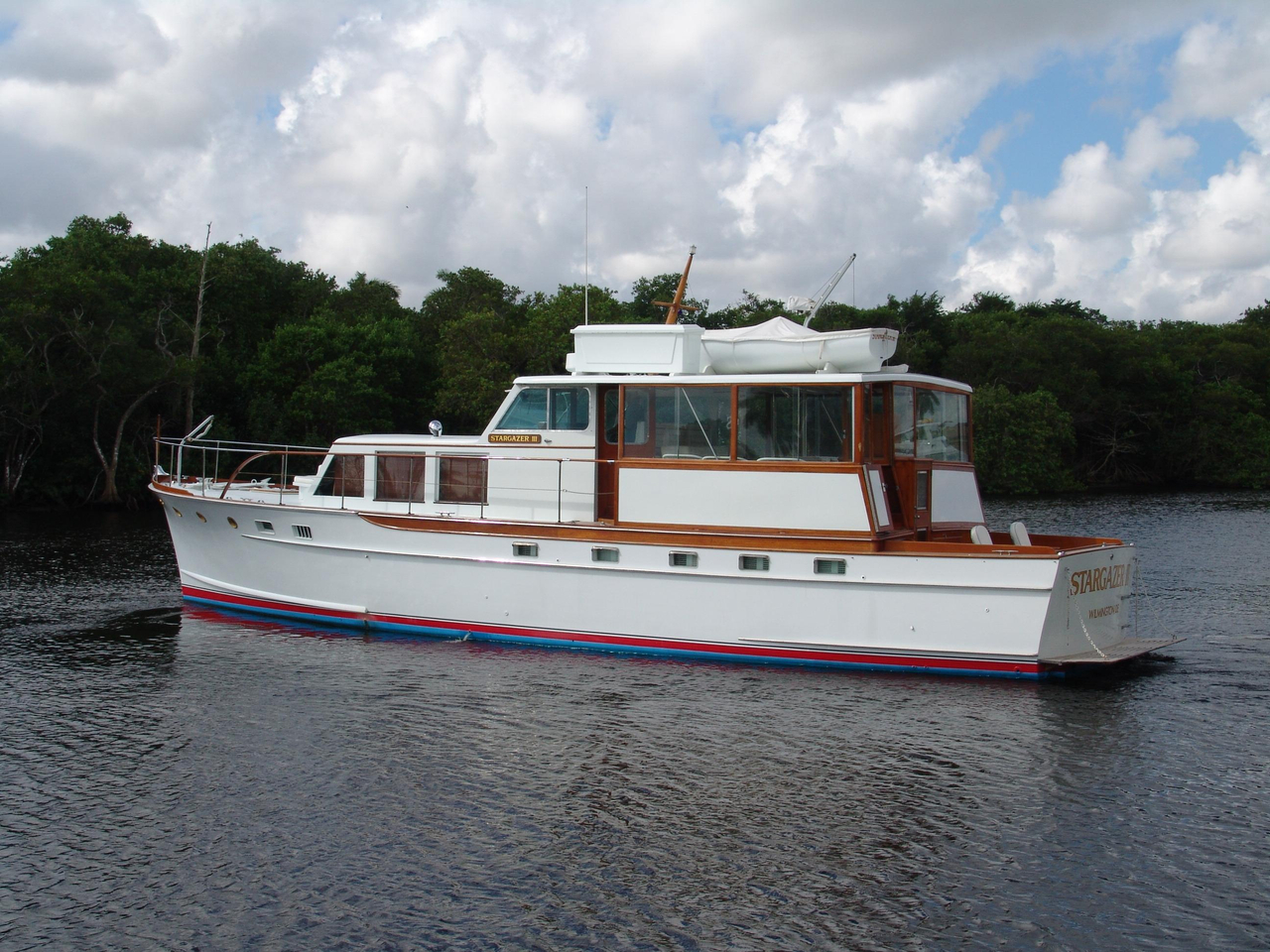 1956 used trumpy motor yacht for sale 119 500 palm for Palm beach motor yachts for sale
