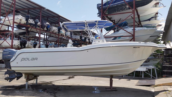 Used Polar 2700 Center Console Saltwater Fishing Boat For Sale