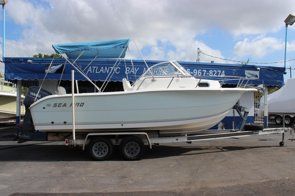 Used Sea Pro 220 Walk Around Walkaround Fishing Boat For Sale