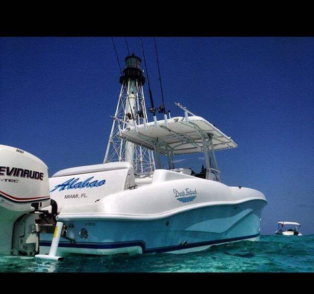 2007 used deep impact open center console fishing boat for for Deep sea fishing boats for sale