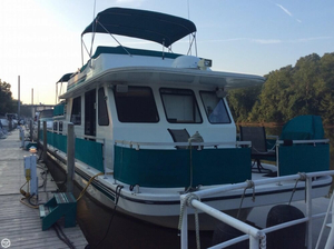 Used Gibson 50 x 14 5000 Series Cabin Yachts House Boat For Sale