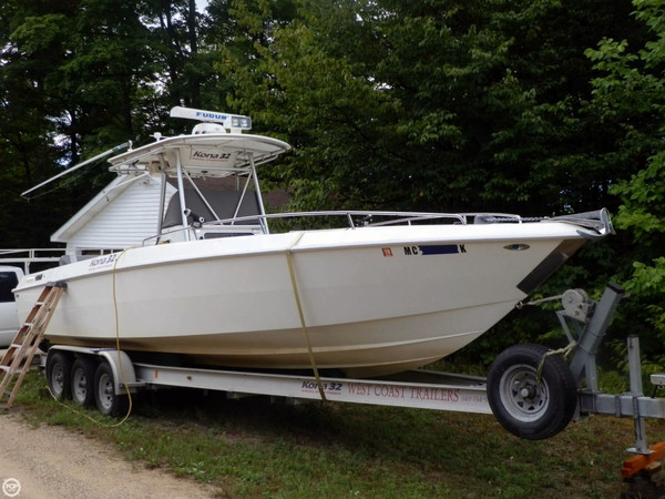 Used Scarab 32 Kona Diesel Sport Fisher Center Console Fishing Boat For Sale