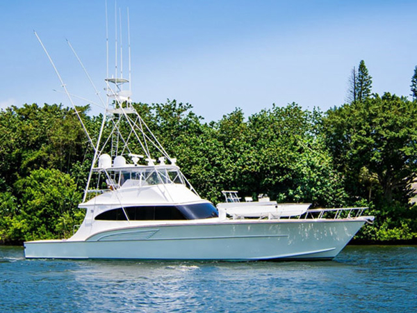 1998 used huckins custom convertible sports fishing boat for Sport fishing boats for sale by owner