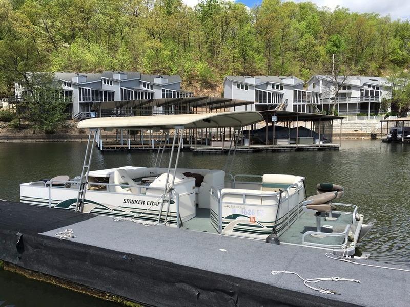 1999 used smokercraft 24 fish and cruise pontoon boat for for Used fishing pontoon boats for sale