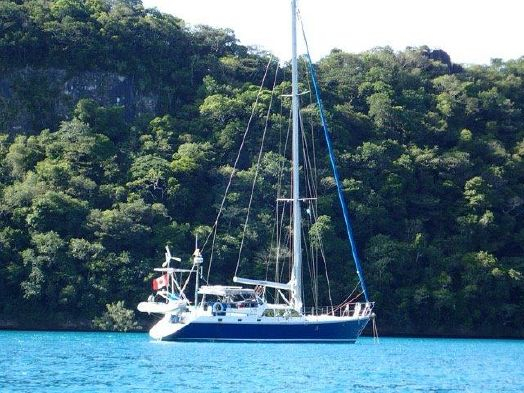 Used Bruce Roberts Custom 52 Steel Kristen Deck Salon Cruiser Sailboat For Sale
