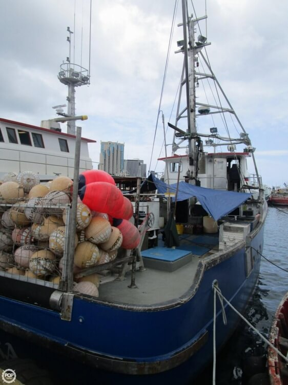 1975 used delta 50 commercial fishing boat longliner boat for Commercial fishing boats for sale