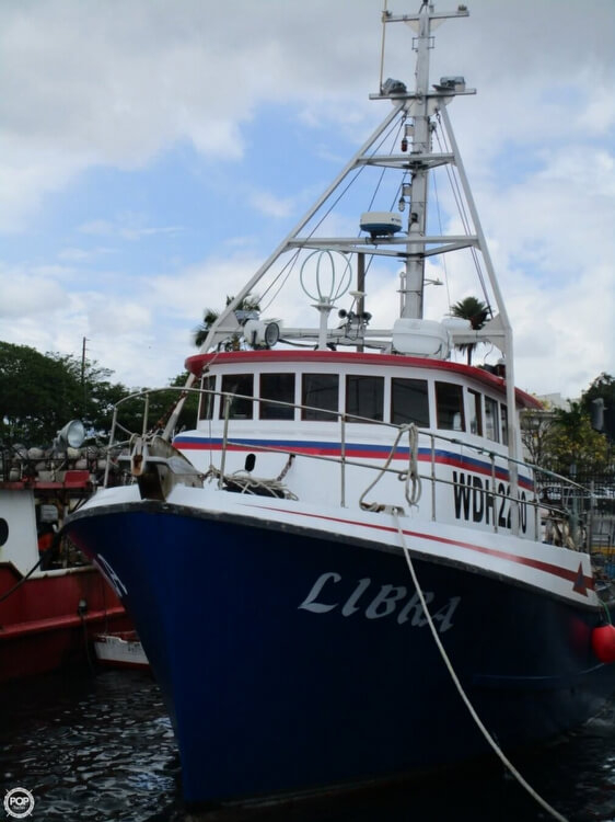 Used Delta 50 Commercial Fishing Boat Longliner Boat For Sale