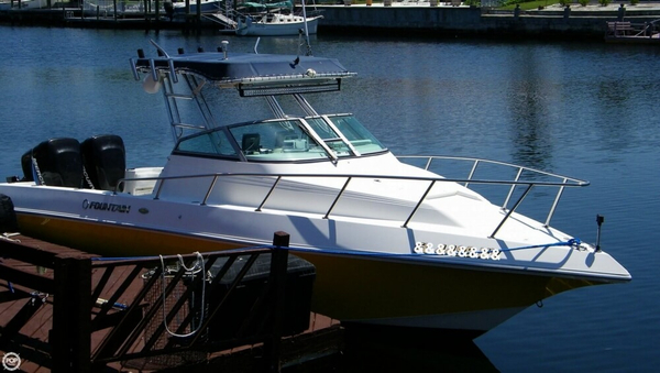 Used Fountain 29 Sports Cruiser Walkaround Fishing Boat For Sale