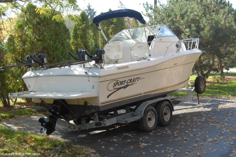 1999 used sport craft 231 walkaround fishing boat for sale for Used fishing boats for sale in michigan