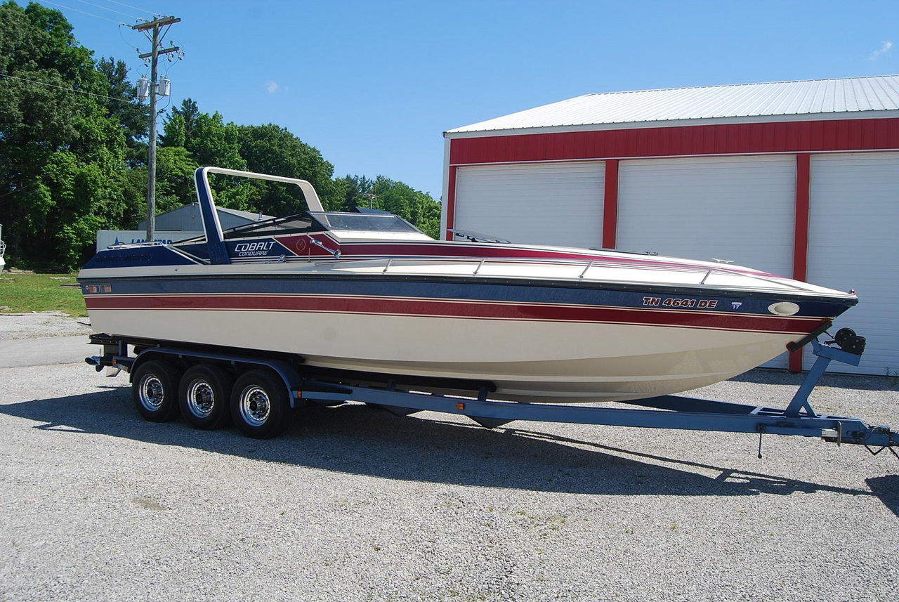 1986 used cobalt condurre 300 cuddy cabin boat for sale