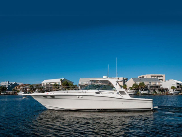 Used Sea Ray 37 Express Amberjack style Sports Fishing Boat For Sale