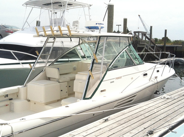 2001 used pursuit express sports fishing boat for sale for Express fishing boats for sale