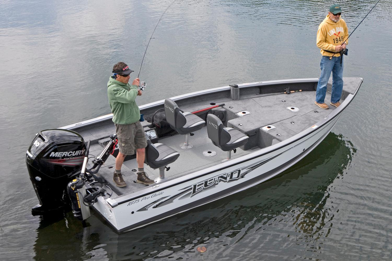 2016 new lund 1875 pro guide aluminum fishing boat for for New fishing boats