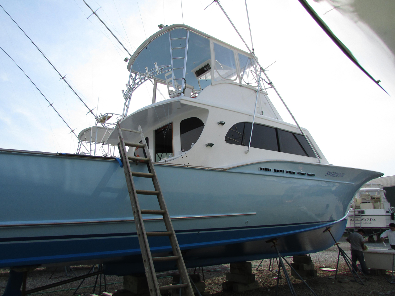 1987 used sullivan carolina custom sportfish sports for Used fishing boats for sale in eastern nc