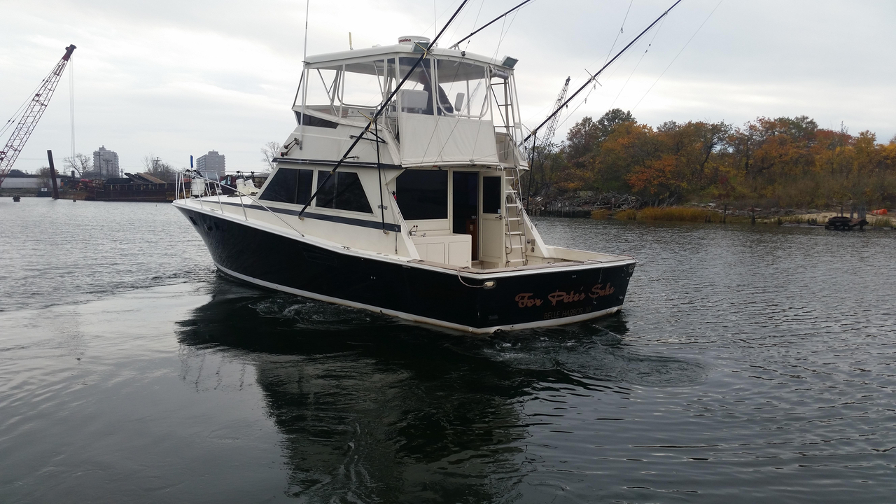 1984 used viking yachts convertible fishing boat for sale for Fishing boats ny