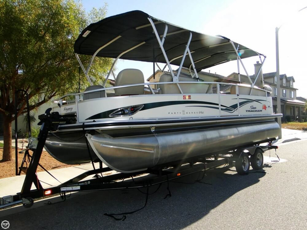 Used Sun Tracker Party Barge 22 Sport Fish Regency Pontoon Boat For Sale