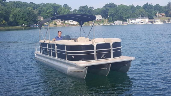 New Misty Harbor Boats Adventure 245 Tritoon Pontoon Boat For Sale