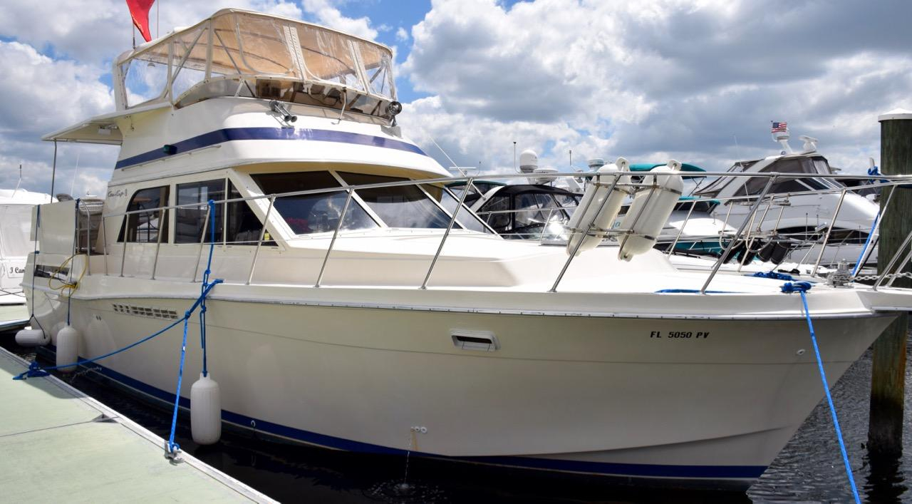 1987 used chris craft 426 catalina motor yacht for sale