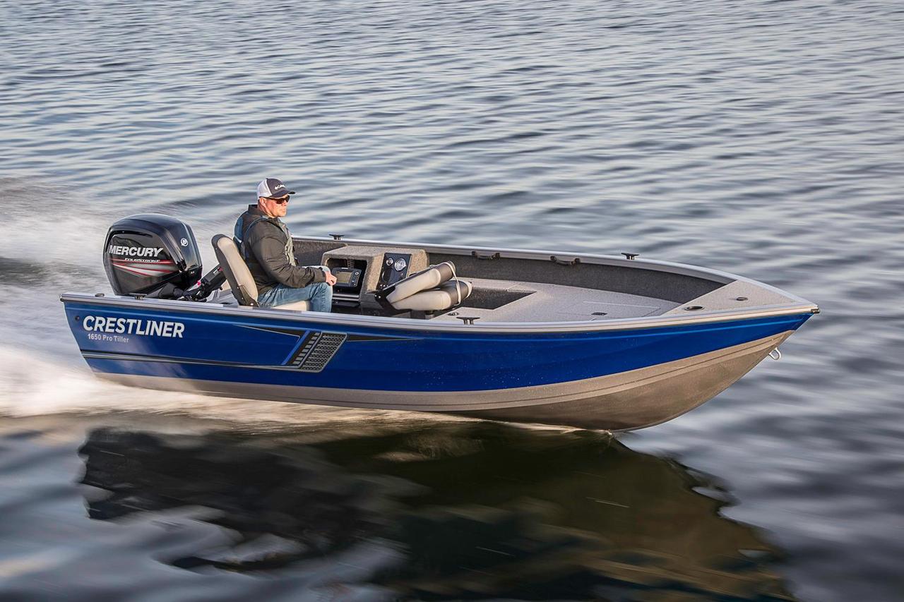 2016 new crestliner 1650 pro tiller aluminum fishing boat for New fishing boats for sale