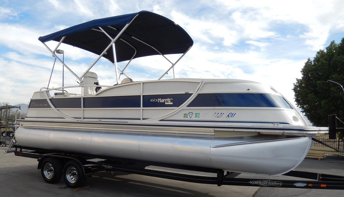 2007 Used Harris Kayot Crown 230 Pontoon Boat For Sale