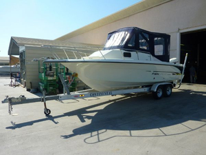 Used Fish Hawk Bombardier 230 WA Walkaround Fishing Boat For Sale