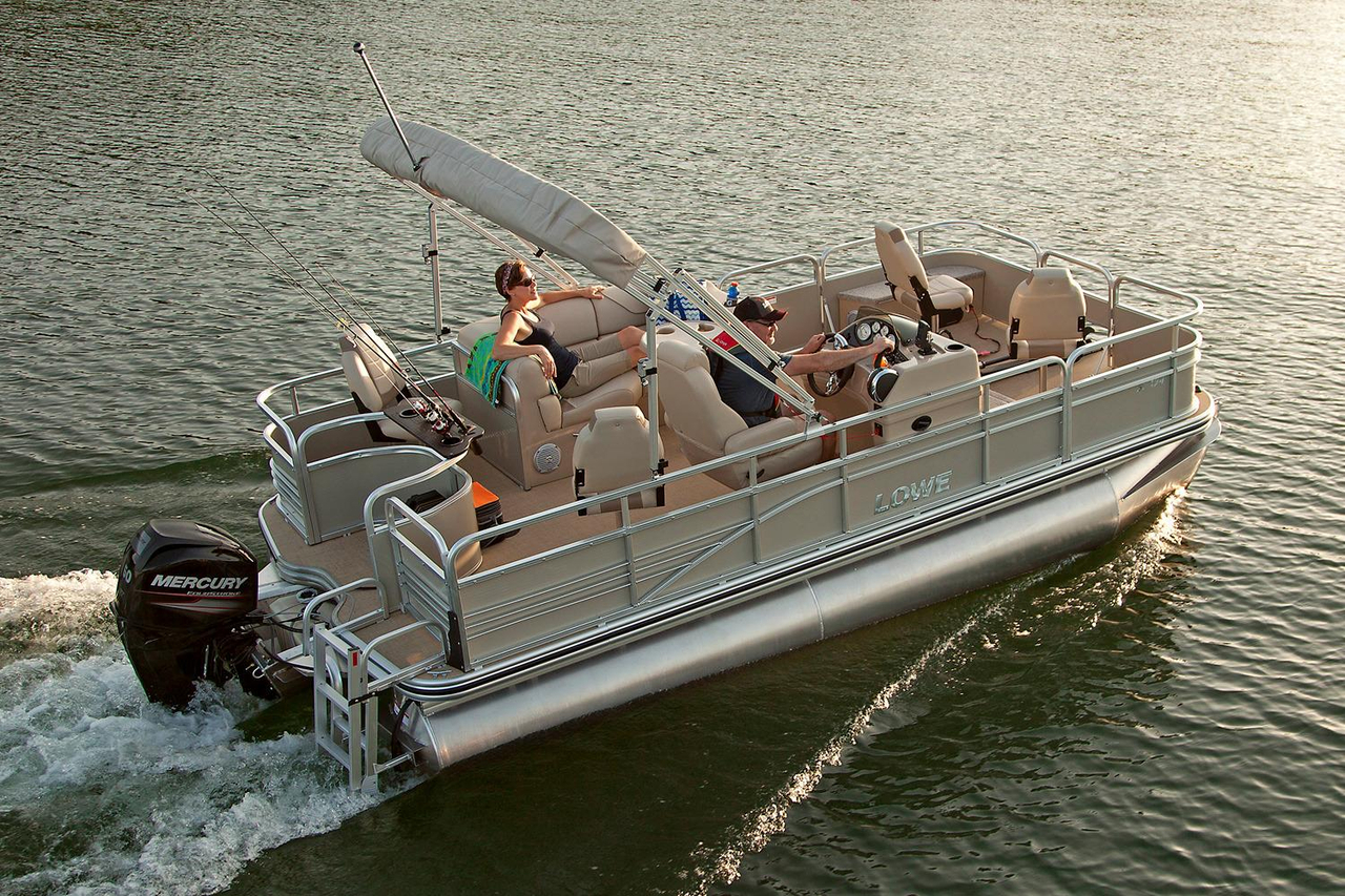 2016 new lowe sf194 sport fish pontoon boat for sale for New fishing boats for sale
