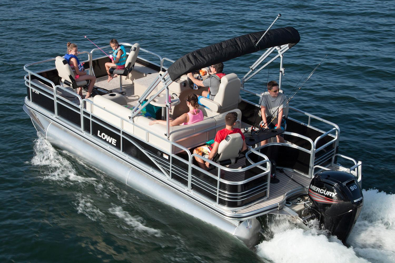 2016 new lowe sf214 sport fish pontoon boat for sale for Fishing pontoon boats