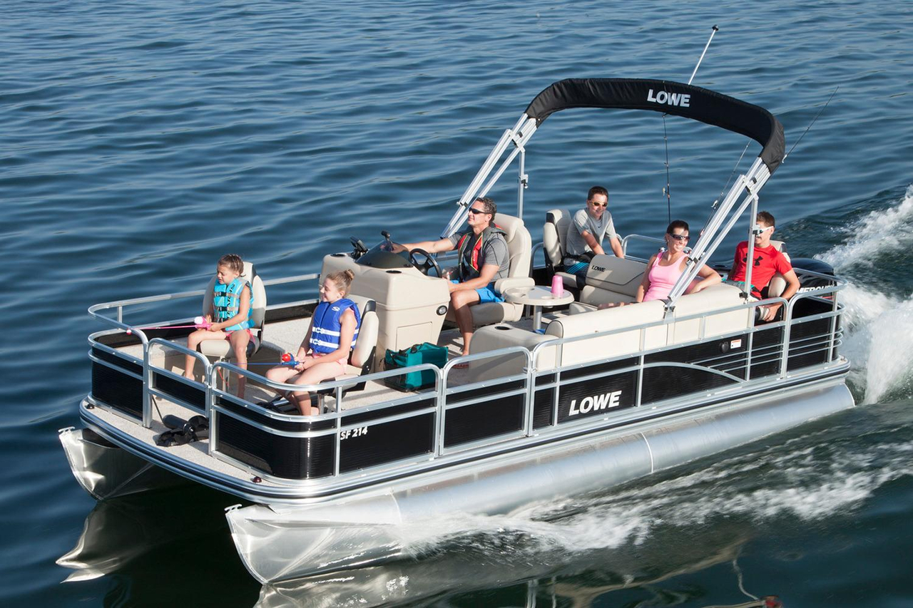 2016 new lowe sf214 sport fish pontoon boat for sale for Sport fishing boats for sale