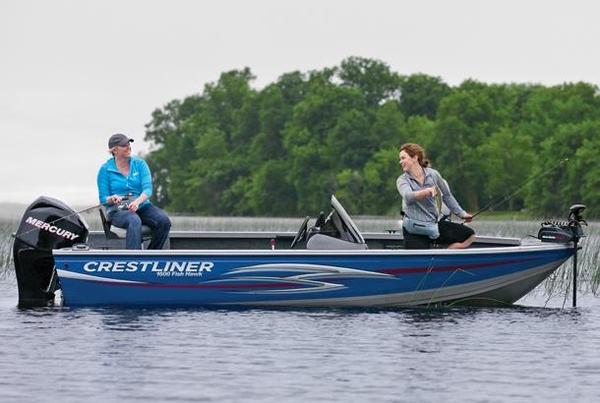 2013 new crestliner 1600 fish hawk freshwater fishing boat for Best freshwater fishing boats