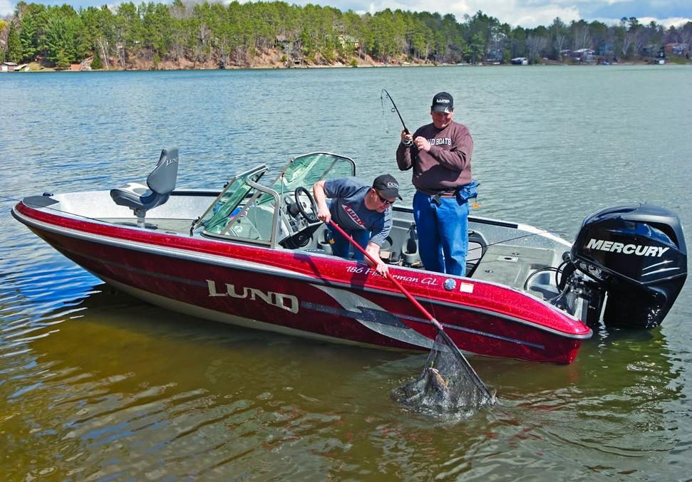 2012 new lund 186 fisherman gl freshwater fishing boat for for Freshwater fishing boats
