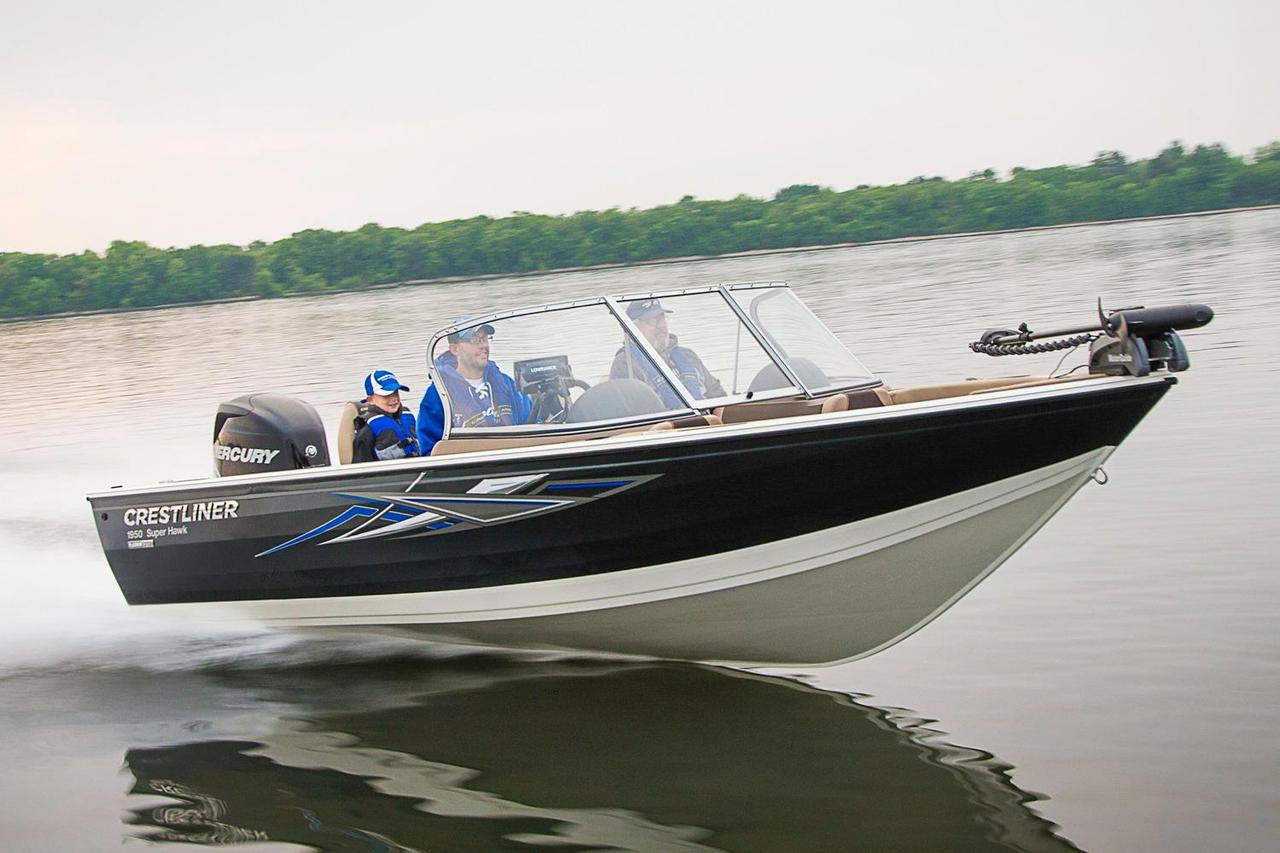 2016 new crestliner 1950 super hawk aluminum fishing boat for New fishing boats for sale