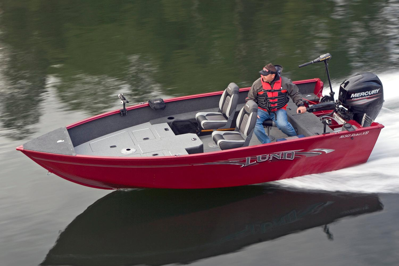 2016 new lund 1650 rebel xs tiller freshwater fishing boat for New fishing boats