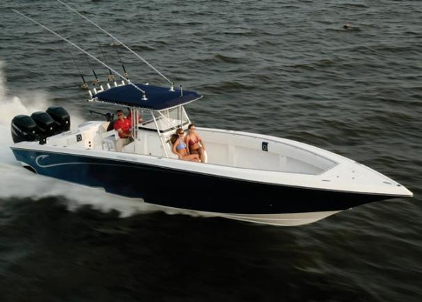 Used Fountain 38 Center Console Saltwater Fishing Boat For Sale