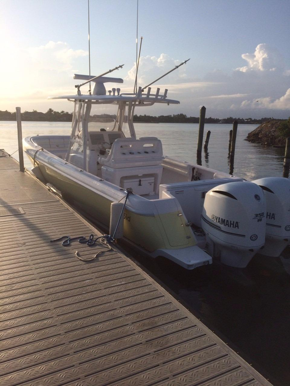 2014 used intrepid 327 center console center console for Used center console fishing boats for sale