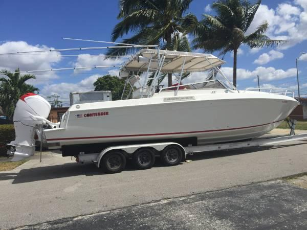 1992 used contender 35 express saltwater fishing boat for for Offshore fishing boats for sale